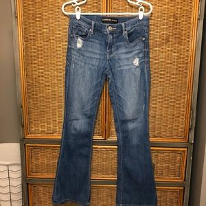 Express slim flare Mia mid rise jeans Size 6s